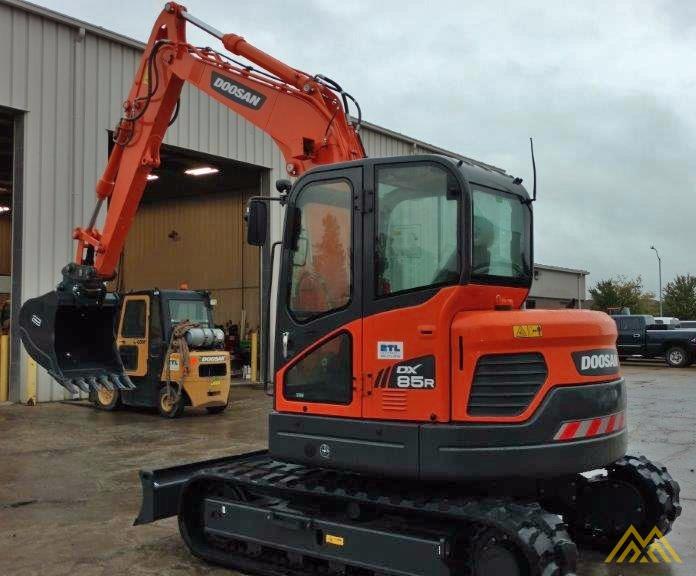 18,000 lb. Doosan DX85R-3 Hydraulic Excavator 3