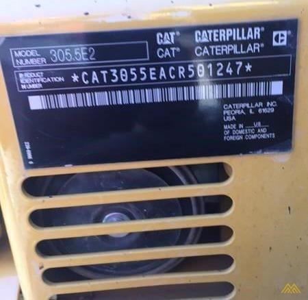 CAT 305.5E2 CR Mini Excavator 2