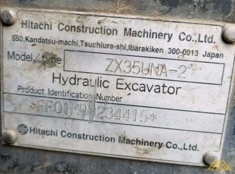 Hitachi ZX35U-2 Mini Crawler Excavator 5