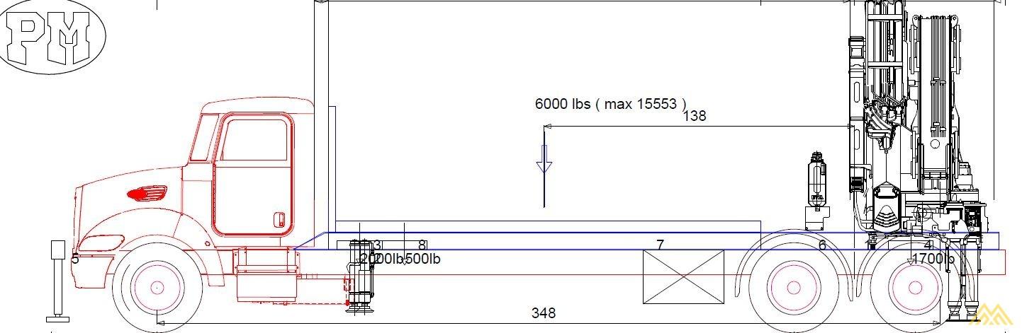 PM 47525 SP 52-Ton Knuckle Boom Crane on MAC 0
