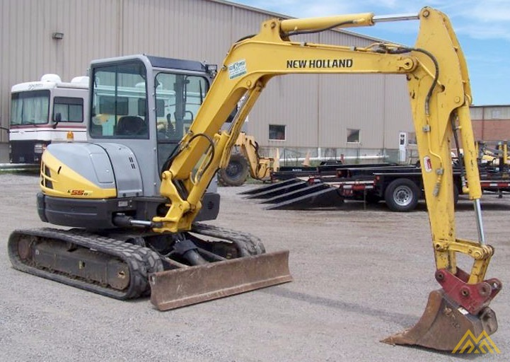 New Holland E55BX Compact Excavator 3