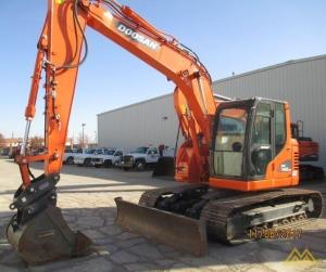 32,000 lb. Doosan DX140LCR-3 Hydraulic Excavator