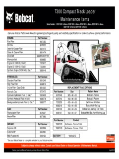 Bobcat Specifications Machine Market