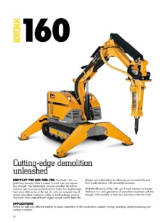 Brokk 160 Specifications Machine Market