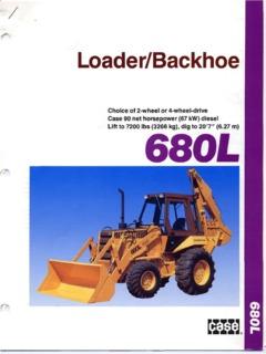 Case 680L Specifications Machine Market