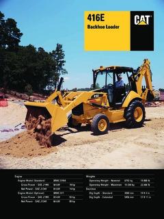 Caterpillar (CAT) 416E Specifications Machine Market