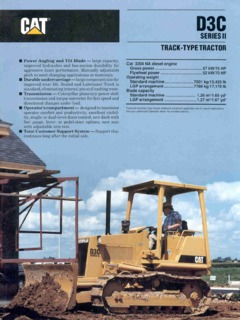 Caterpillar (CAT) D3C Series II Specifications Machine Market