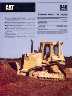 Earthmoving Equipment Dozers Caterpillar (CAT