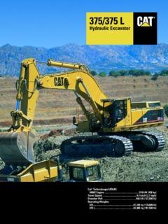 Earthmoving Equipment Excavators Caterpillar (CAT) 375 L
