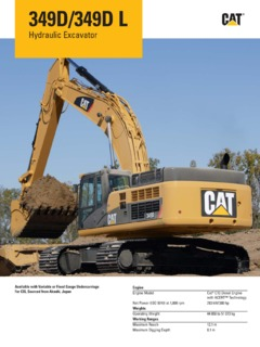 Caterpillar (CAT) 349D Specifications Machine Market