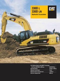 Earthmoving Equipment Excavators Caterpillar (CAT