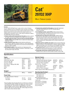 Loaders Crawler Track Mounted Caterpillar (CAT) Specifications