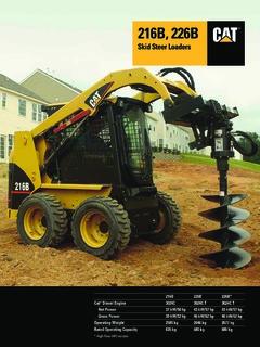 Caterpillar (CAT) 226B Specifications Machine Market