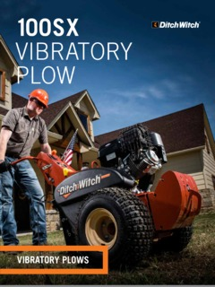 Ditch Witch 100SX Vibratory Plow Specifications Machine Market