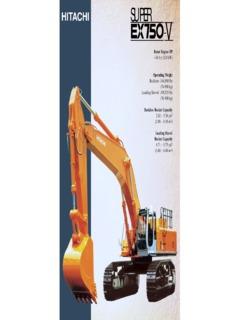 Hitachi EX750-V Specifications Machine Market