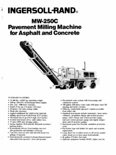 cold planers ingersoll rand specifications machine market rh machine market Ingersoll Rand TZM 160 Parts Manual Ingersoll Rand Compressor Parts Diagram