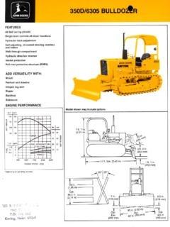 Dozers Crawler Track Mounted John Deere Specifications