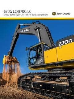 Earthmoving Equipment Excavators John Deere Specifications