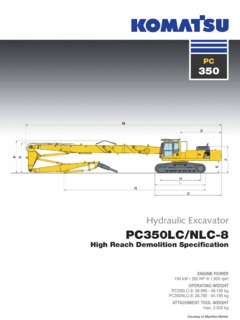 Excavators Komatsu PC350NLC-8 Specifications Machine Market