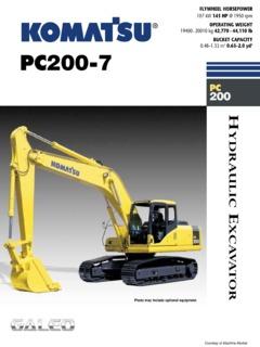 Komatsu PC200-7 Specifications Machine Market