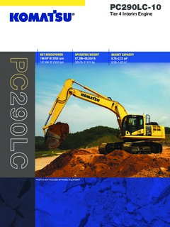 Crawler Track Mounted Komatsu PC290LC-10 Specifications Machine Market