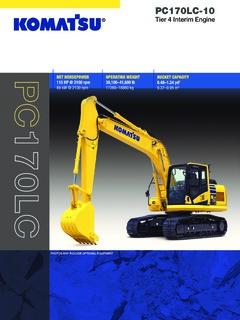 Komatsu PC170LC-10 Specifications Machine Market
