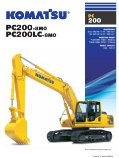 Excavators Komatsu PC200-8M0 Specifications Machine Market