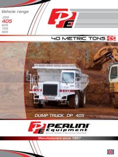 Trucks Trailers & Transport Equipment Off Highway-Dump Perlini