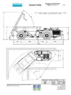 Sandvik TH550 Specifications Machine Market