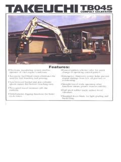 Excavators Compact-Mini Specifications Machine Market Page 20