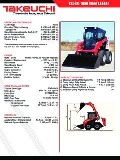 Takeuchi Specifications Machine Market