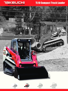 Skid Steer Loaders Crawler Track Mounted Takeuchi Specifications