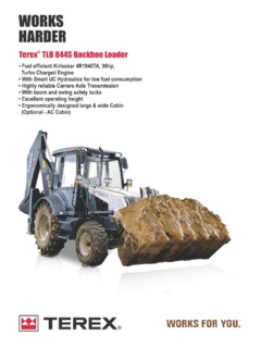 Terex TLB 844S Specifications Machine Market