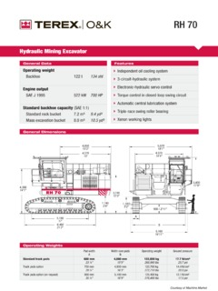 Terex O&K Specifications Machine Market