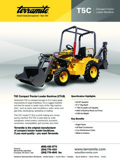 backhoe loaders terramite t5c specifications machine market rh machine market 1996 Terramite T5C Brochure Terramite T5C Repair Manual