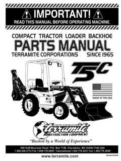 Terramite T5c Specifications Machine Market